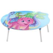 โต๊ะญี่ปุ่นวงรี ขาเหล็ก OEM 30 นิ้ว ลายไดโนเสาร์ คละสี
