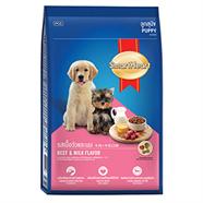 SMARTHEART อาหารลูกสุนัข รสเนื้อ และนม 8 Kg.