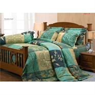 ผ้าปูที่นอน JESSICA รุ่น J187 3.5 ฟุต 3 ชิ้น ลายใบไม้สีเขียว