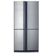 SHARP ตู้เย็น SIDE BY SIDE 20.5 คิว รุ่น SJ-FX74T-SLสีเทา
