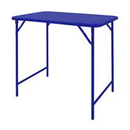 โต๊ะพับเหล็ก ขาสวิง 4 ฟุต สีน้ำเงิน