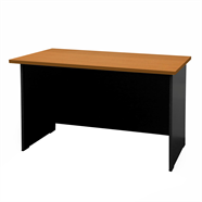 โต๊ะทำงานไม้ SMART OFFICE รุ่น SM-T1560 1.50 เมตร สีเชอร์รี่ดำ