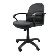 FINEXT เก้าอี้สำนักงานหนัง รุ่น HLC-1263L สีดำ