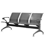 เก้าอี้รับรอง FINEXT รุ่น AL-029/D103 3 แถว สีเทา