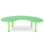 NOBU โต๊ะนักเรียนโค้ง 1.65x90 ซม. รุ่น YCY-005 สีเขียว