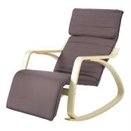 เก้าอี้พักผ่อนผ้าโมเดิร์น OEM รุ่น CM2213T สีน้ำตาล