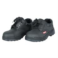 รองเท้านิรภัย แบบหุ้มส้นหนังแท้ เบอร์ 40 สีดำ NASH รุ่น HLS034