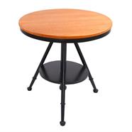HOFF โต๊ะหน้ากลมไม้สน รุ่น E-011 สีน้ำตาล