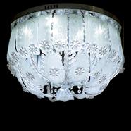 VANEZZA โคมไฟถาดคริสตัล LED 50 ซม. สีขาว รุ่น 20207