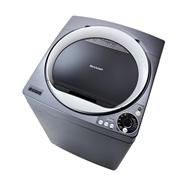 SHARP เครื่องซักผ้าฝาบน 10 กก. รุ่น ES-U10HT-S สีเงิน