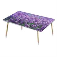โต๊ะญี่ปุ่นเหลี่ยม ขาเหล็ก OEM 16x24 นิ้ว ลายดอกลาเวนเดอร์