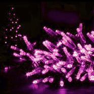ไฟกระพริบ LED 70 ดวง 10 เมตร สีชมพู