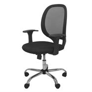 FINEXT เก้าอี้สำนักงานผ้า รุ่น H-8368F สีดำ