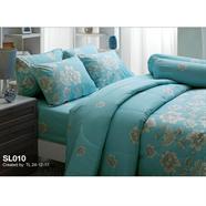 ผ้าปูที่นอน TULIP รุ่น SL-010 5 ฟุต 5 ชิ้น ลายดอกคาร์เนชั่น สีเขียว