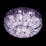 VANEZZA โคมไฟถาดคริสตัล LED 60 ซม. สีชมพู รุ่น 2706