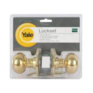 YALE ลูกบิดประตูห้องน้ำทองเหลือง รุ่น KN-VTT5222US3