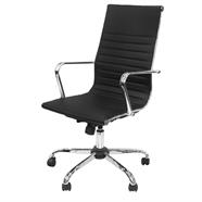 FINEXT เก้าอี้สำนักงานผ้า รุ่น H-9016-1E-1 สีดำ