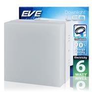 EVE โคมไฟดาวน์ไลท์ LED ติดลอย หน้าเหลี่ยม 6 วัตต์ (WARM WHITE)