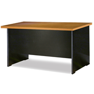 SMART OFFICE โต๊ะทำงานไม้ 1.50 เมตร รุ่น SM-T1560 สีเชอร์รี่ดำ