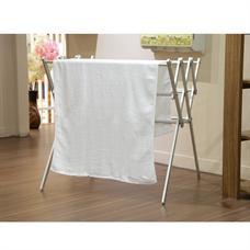 ผ้าขนหนูทอ ลายคาด 27x54 นิ้ว รุ่น 9904 สีขาว