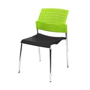 MASS เก้าอี้รับรองไฟเบอร์ รุ่น GD-01 สีดำเขียว