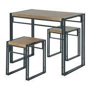 ชุดโต๊ะพร้อมสตูลเหลี่ยม HOFF รุ่น HF-D9180 สีโอ๊ค