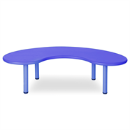 NOBU โต๊ะนักเรียนโค้ง 1.65x90 ซม. รุ่น YCY-005 สีน้ำเงิน