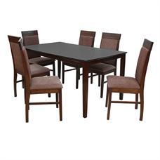 FINEXT ชุดโต๊ะอาหารไม้ 6 ที่นั่ง รุ่น 7008T/124C
