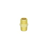OEM นิปเปิ้ลทองเหลืองเกลียวนอก 1/2 นิ้ว x 1/2 นิ้ว สีเหลือง