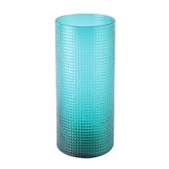 แจกันแก้ว 10 นิ้ว ลายยุโรป สีเขียว OEM รุ่น 201401