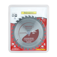 NASH ใบเลื่อยวงเดือน 10 นิ้วx30ฟัน สีเทา รุ่น N12050217