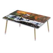โต๊ะญี่ปุ่นเหลี่ยม ขาเหล็ก OEM 20x30 นิ้ว ลายบ้านกลางน้ำ