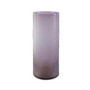แจกันแก้ว 10 นิ้ว สีม่วงอ่อน OEM รุ่น 201401