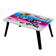 โต๊ะญี่ปุ่นเหลี่ยม OEM 16x24 นิ้ว ลายทอม&เจอรี่ สีชมพูฟ้า