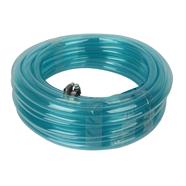 สายยางพีวีซีพร้อมหัวฉีด 5/8 นิ้ว x 10 เมตร สีฟ้าใส OEM