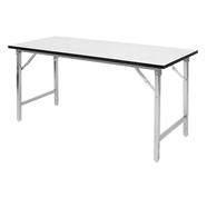 โต๊ะอเนกประสงค์ โฟเมก้าขาชุปโครเมี่ยม สีขาว
