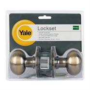 ลูกบิดประตูห้องน้ำทองเหลืองรมดำ YALE รุ่น KN-VOV5222US5