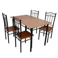 FINEXT ชุดโต๊ะอาหารเมลามีน 4 ที่นั่ง รุ่น DS-024