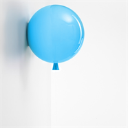 FINEXT โคมไฟลูกโป่ง พลาสติก ติดผนัง 20 ซม. สีฟ้า