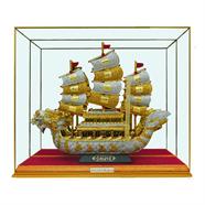 ตู้มงคล เรือมังกรทองประดับเพชร 4x16x13 นิ้ว สีทอง OEM