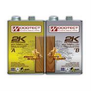 โพลียูรีเทน 2 K ภายนอกเงา (A+B) 1/4 แกนลอน WOODTECT รุ่น 2KE-1