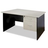 SMART OFFICE โต๊ะทำงานไม้ลิ้นชัก 1.20 เมตร รุ่น 1260H2 สีเมเปิ้ลดำ