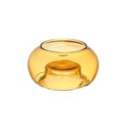 เชิงเทียนแก้ว 2.5 นิ้ว สีชา OEM รุ่น 8906