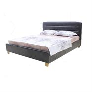 HOFF เตียงนอนหนัง 6 ฟุต รุ่น KJ1510 สีน้ำตาลเข้ม