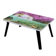 โต๊ะญี่ปุ่นเหลี่ยม ขาPP OEM 24x24 นิ้ว ลายน้ำตกเอราวัญ