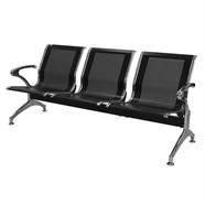 เก้าอี้รับรอง FINEXT รุ่น AL-029B/D103 3 แถว สีดำ