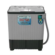 HAIER เครื่องซักผ้า 2 ถัง 7.5 กก. รุ่น HWM-TE75 DGT สีเทา