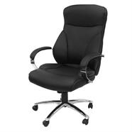 FINEXT เก้าอี้สำนักงานหนัง รุ่น H-96582L-1K สีดำ