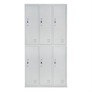 SMART OFFICE ตู้ล็อคเกอร์ 6 ช่อง รุ่น SM3B2A สีเทา