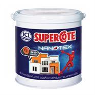 สีน้ำกึ่งเงา SUPERCOTE NANOTEX รุ่น 043 สีขาวครีม 15ลิตร
